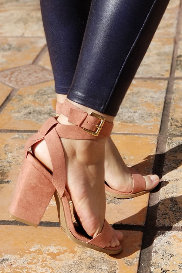 Blush Wrap Around Strappy Sandal