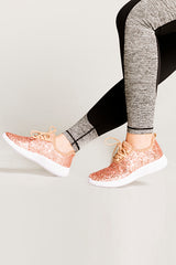 Rose Gold Glitter Metallic Sneakers