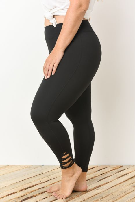 PLUS Lattice Strap Full Leggings