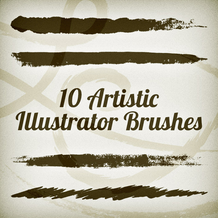 New Designer Toolbox Freebie: 10 Artistic Illustrator Brushes