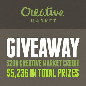 Creative Market Giveaway: Snag Some Swag and Win $5,236 in Total Prizes