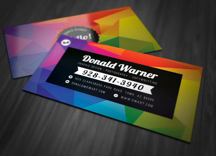 New Designer Toolbox Freebie Colorful Double Sided Business Card