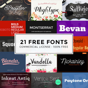 The Totally Free Bundle of 21 Fonts