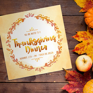 Create a Colorful Thanksgiving Dinner Invitation Template in Illustrator and Photoshop