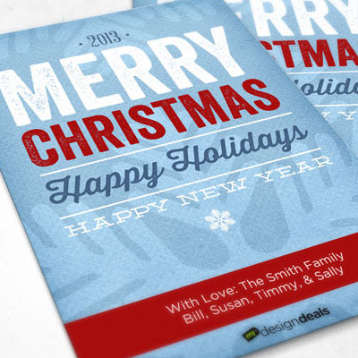 How to Make a Typographic Christmas Card Using Digital Papers