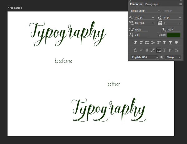 Photoshop Stylistic Alternates