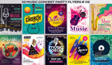 100 Music Flyers - Just $19 - MyDesignDeals