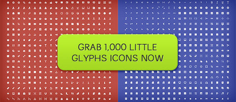 1,000 Little Glyphs (with Extended Licensing) - Only $15 - MyDesignDeals
