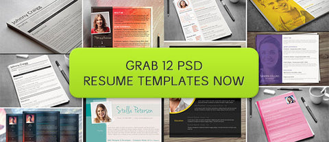 12 PSD Resume Templates Sure to Get You Noticed - Only $18 - MyDesignDeals
