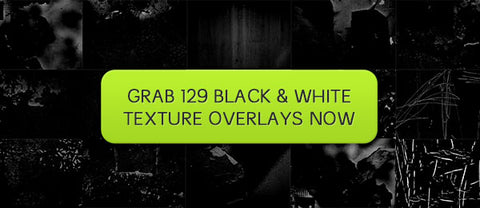 129 Black and White Texture Overlays - Only $16 - MyDesignDeals