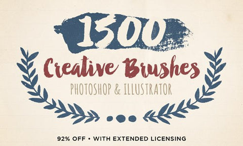 1,500 Creative Brushes (with Extended Licensing) - Only $29 - MyDesignDeals