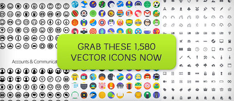 1,580 Icon Super Bundle - Only $29 - MyDesignDeals