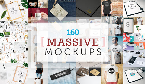 The Untouchable Megabundle Of 160 Massive Mockups - MyDesignDeals