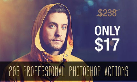 205 Popular, Professional Photoshop Actions - Only $17 - MyDesignDeals
