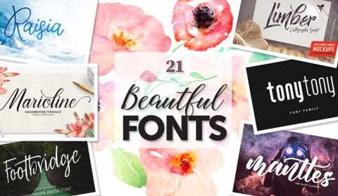21 Beautiful Fonts, Plus LOTS of Extras - MyDesignDeals
