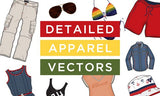230 Detailed Apparel Vectors (with Extended Licensing) - Only $29 - MyDesignDeals