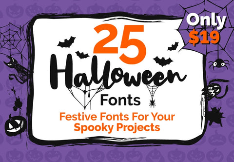 25 Halloween Fonts - Just $19