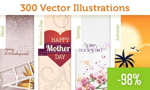 300 Useful, Premium Vector Illustrations - Only $25 - MyDesignDeals