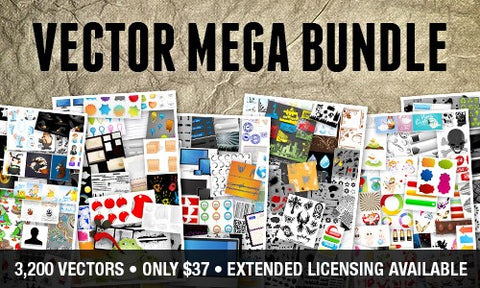 3,200 Vector Mega Pack (Extended Licensing Available) - Only $37 - MyDesignDeals