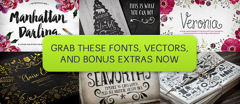 4 Font Favorites from MakeMediaCo (Plus Big Bonuses) - Only $29 - MyDesignDeals