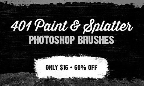 401 Paint and Splatter Photoshop Brushes - Only $16 - MyDesignDeals