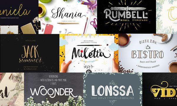 45 Killer New Fonts (Plus Extras and Extended Licensing) - Only $39