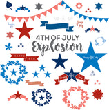130 Lit 4th of July Vector Files - Only $5 - MyDesignDeals