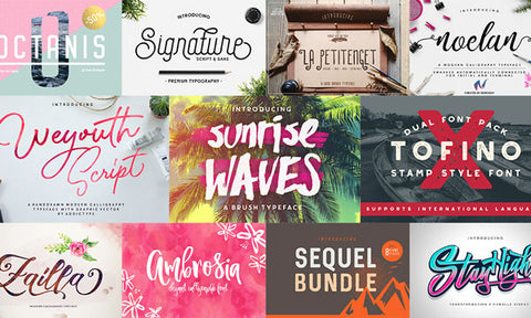 50 Brand New Fonts to Lust After - MyDesignDeals