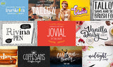 50 Font Mega Bundle (Plus Extras) - Only $39 - MyDesignDeals