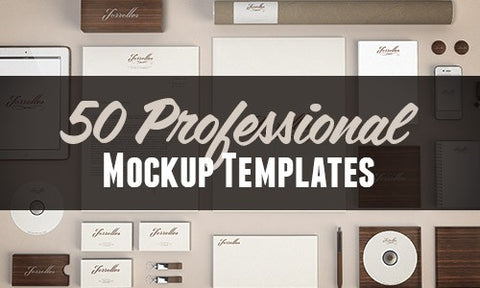50 Professional Mockup Templates - Only $25 - MyDesignDeals