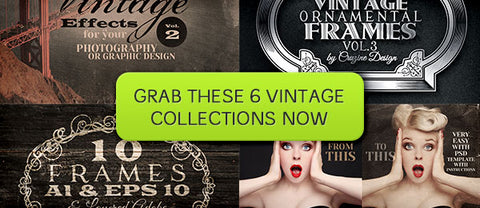 Second Chance: 6 Vintage Bundles - Only $25 - MyDesignDeals