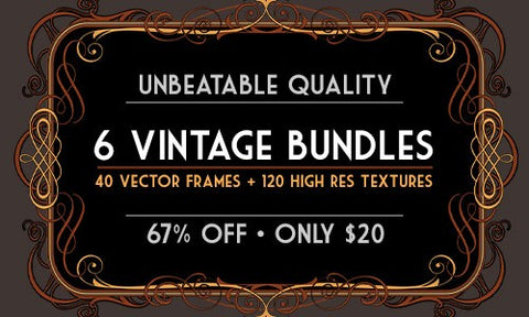 6 Unbeatable Vintage Bundles from Cruzine - Only $20 - MyDesignDeals