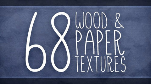 68 Wood and Paper Textures with Extended Licensing - Only $10 - MyDesignDeals