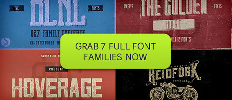 7 Full-Featured Font Families - Only $22 - MyDesignDeals