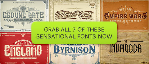7 Sensational Fonts - Only $25 - MyDesignDeals