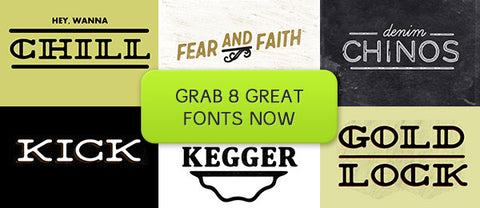 8 Great Fonts - Only $25 - MyDesignDeals