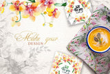Delicate & Tasteful Florals - Watercolor Frames, Patterns And More - Only $39 - MyDesignDeals