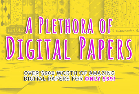 A Plethora Of Digital Papers - Only $39 - MyDesignDeals