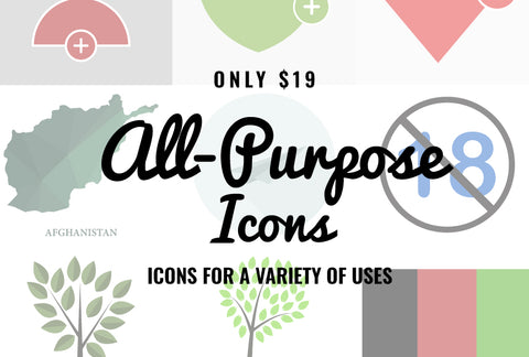 All Purpose Icons - Just $19 - MyDesignDeals