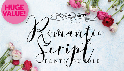 Super Romantic Scripts Font Bundle - Artists' Special - Only $9 - MyDesignDeals