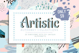 Artistic Alphabet Collections - 20 Unique Alphabets - Only $9 - MyDesignDeals