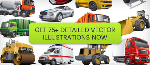 Over 75 Amazingly Detailed, Automotive Vector Illustrations - Only $20 - MyDesignDeals