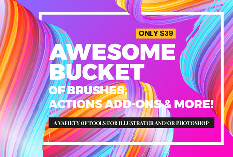 Awesome Bucket Of Brushes, Actions Add-Ons & More - Only $39
