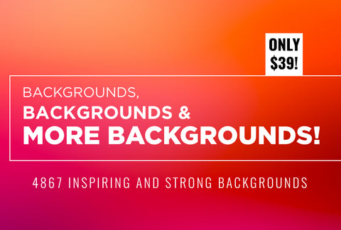 Backgrounds, Backgrounds And More Backgrounds! - Just $39 - MyDesignDeals