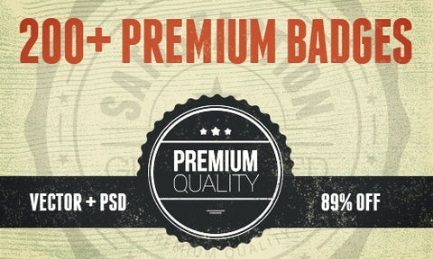 BadgeZilla: 200+ Premium Vector and PSD Badges - Only $39 - MyDesignDeals