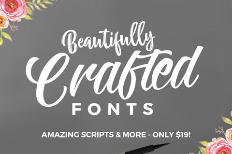 36 Beautifully Crafted Fonts, Amazing Scripts & More - Only $19 - MyDesignDeals