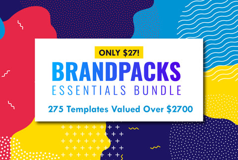Brandpacks Essentials Bundle - 275 Templates - Only $27 - MyDesignDeals
