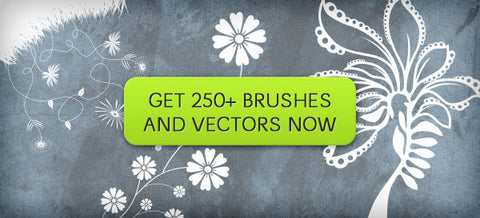 Brush and Vector Flourishes, Flowers, Foliage and More - Only $10 - MyDesignDeals