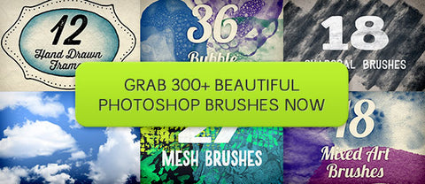 Brushtacular: 300+ Photoshop Brushes w/Extended Licensing - Only $29 - MyDesignDeals