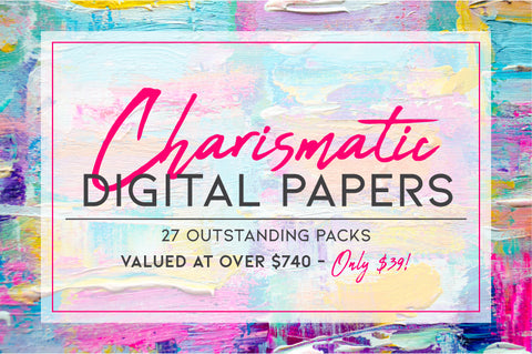 Charismatic Digital Papers - Just $39 - MyDesignDeals